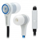 SONGQU Stylish Universal In-ear Headset / Earphone w/ Microphone - Blue + Black + White