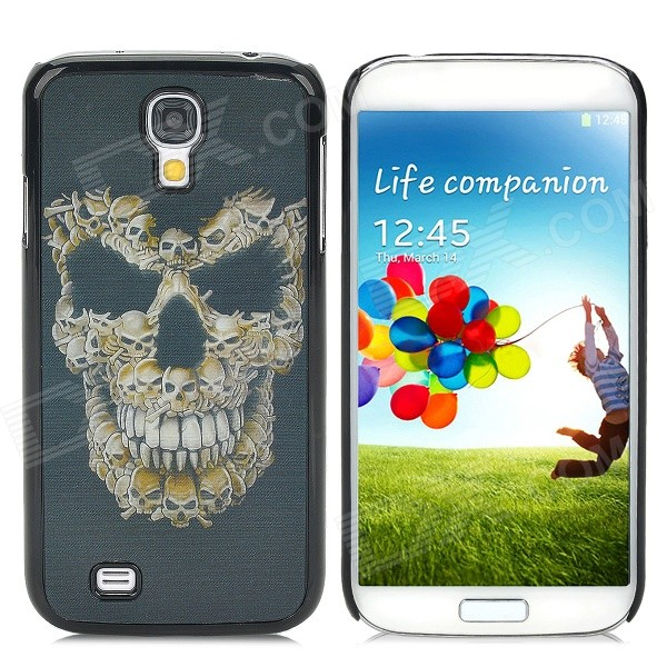 Protective 3D Skull Head Pattern Back Case for Samsung Galaxy S4 i9500 - Black + Golden protective cute spots pattern back case for samsung galaxy s4 i9500 multicolored