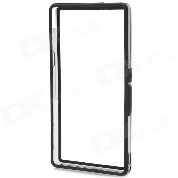 Protective Bumper Frame for Sony Xperia Z L36h - Black + Transparent