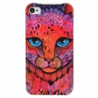 Protective Leopard Plastic Back Case for Iphone 4 / 4S - Pink