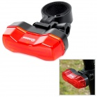 ANSUO AZ-109 Bicycle 7-Mode 4-LED Red Light Tail Warning Safety Light - Red + Black (2 x CR2032)