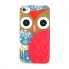 Cute Owl Pattern Protective Plastic Case for Iphone 4 / 4S - Multicolored