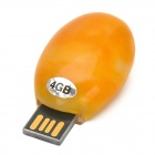 MLD-23 Agate Opal Style USB2.0 Flash Driver - Yellow (4 GB)