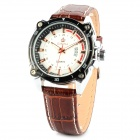 ORKINA P002748 Stainless Steel Men's Quartz Analog Wrist Watch w/ Calendar - Brown + Black + White