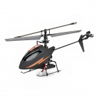 Attop YD917 Anti-Drop 2.4GHz 4-CH Dual Servo R/C Helicopter w/ Built-in Gyro - Black + Orange