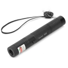5-in-1 Green Light 5mW Adjustable Focus Starry Sky Laser Flashlight - Black