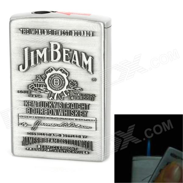JIM BEAM Pattern Steel Jet Torch Butane Lighter