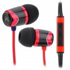 Soundmagic E10M In-Ear-Ohrhörer w / Mikrofon - Schwarz + Rot (3,5-mm-Stecker / 130cm-Kabel)