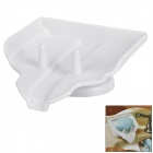 Bathroom Suction Cup Soap Holder - White