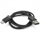 USB Male to Micro USB Male Extension Charging Data Cable for Samsung - Black (100 CM)