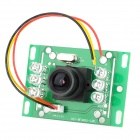 SY-3855 12V 420TVL PAL CMOS 6 Night Vision IR Lights Color Doorbell Camera Module - Black + Green