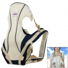 BBX104 Multi-Position Polyester Infant Baby Harness Carrier - Blue + Beige