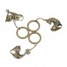 Stylish Skeleton Elephant / Deer / Zebra Shape Keychain Set - Coppery (3 PCS)