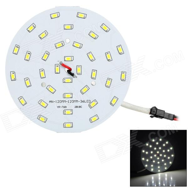 HDX 18W 1800lm 36-SMD 5730 LED White Light LED Plate w/ Driver - White dia 400mm 900w 120v 3m ntc 100k round tank silicone heater huge 3d printer build plate heated bed electric heating plate element
