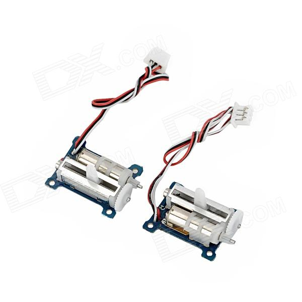 Goteck GS-1502 Super Micro Steering Gear / Analog Servo for R/C Airplane - Blue + White (2 PCS)