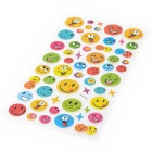 Cartoon PVC Smiling Face Sticker - Multicolored (54 PCS)