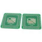 Multi-Function V116 LQFP / TQFP32 / 44 / 48 / 64 / 80 / 100PIN to DIP Adapter Boards - Green (2 PCS)