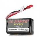 GE POWER 900 11.1V 900mAh 25C Li-ion Battery Pack for R/C Helicopter - Black