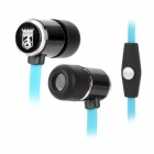 Bingle i807 In-Ear Noise-Isolating Earphone w/ Microphone for Iphone / Cell Phone - Black + Blue