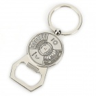 Multifunction Bottle Opener + Calendar Keychain Set - Silver