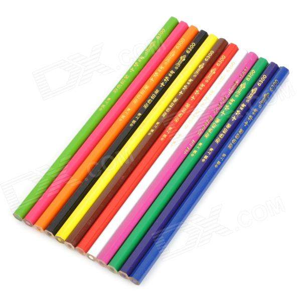 Chung Hwa 12-in-1 Pencils Set - Multi-color (12 PCS)