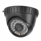 480TVL Security CCTV Day / Night 36 IR LED Indoor Dome Camera - Black (PAL)