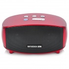 Singbox T5 3W x 2 Rechargeable Bluetooth V2.1 Speaker w/ Handsfree / TF - Maroon + Black