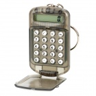 "Mini Portable 1.0"" LCD 8-Digit Silient Calculator w/ Flip Cover - Transparent Tawny (1 x AG10)"