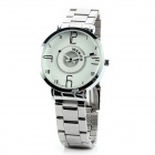 Fashion Stainless Steel Band Quartz Wrist Watch for Couple - Silver (2 x SR920 / Pair)