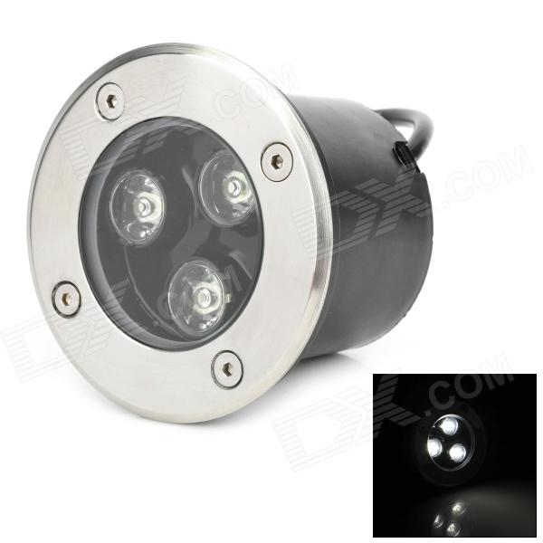 3W 3-LED 270lm 6500K Cold White Light IP66 Underground Lamp