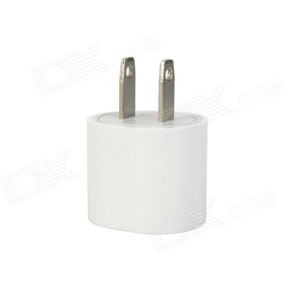 USB US Plug Power Adapter for Iphone 5 - White original teclast series power adapter 5v 2 5a output us plug black