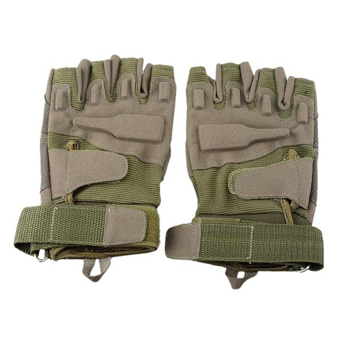 Stylish Outdoor Half Finger Gloves - Army Green ( Size L / Pair) stylish outdoor full finger gloves army green size m pair