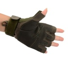Stylish Outdoor Half Finger Gloves - Army Green ( Size L / Pair)