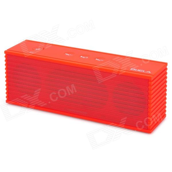 BiJELA HT-1053 Rechargeable Wireless Bluetooth V2.1 Music Speaker Player with TF Slot - Red portable rechargeable wireless bluetooth v2 0 speaker w tf slot for iphone ipad cell phone mp3 mp4