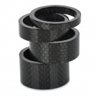 Carbon Fiber 5 / 10 / 15 / 20mm Bicycle Headset Washer Set - Black (4 PCS)