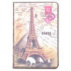 ENKAY ENK-3320 Eiffel Tower Pattern Protective PU Leather Case w/ Stand for Ipad MINI - Brown