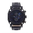 Super Speed V0015-BW Fashionable and Young Men's Quartz Wrist Watch - Black + Blue (1 x LR626)