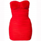LC2659 Sexy Body-abrazo Tentadora Mini Dress - Red (talla L)