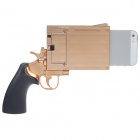 Pistol Style Protective Plastic Case for Iphone 5 - Coppery + Black