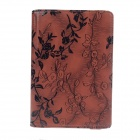 Rose Pattern PU Leather Smart Case w/ Swivel Stand for Ipad MINI - Brown