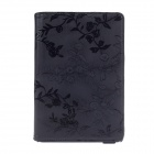 Rose Pattern PU Leather Smart Case w/ Swivel Stand for Ipad MINI - Black