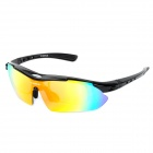 INBIKE 619 Outdoor UV400 Protection Polarized Light Cycling Sunglasses / Goggles - Black