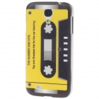 iTOP CB-125D Tape Style Plastic Back Case w/ Screen Protector for Samsung S4 i9500 - Black + Yellow