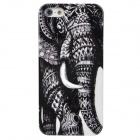 Elephant Style Protective Plastic Back Case for Iphone 5 - Black + White