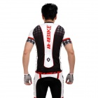 INBIKE Short Sleeves Bicycle Cycling Suit Jersey + Pants Set - Black + White + Red (Size-L)