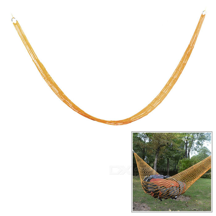 Outdoor Camping Portable Single Person Nylon Mesh Swing Hammock - Orange aotu outdoor camping portable single person nylon mesh swing hammock army green