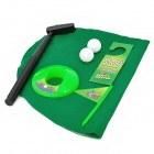 Aseo creativo Jugar Flocado tela + ABS Golf Toy Kit - Verde