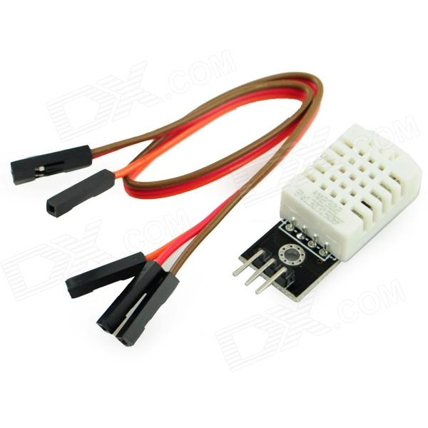 Temperature Humidity Sensor Module - Black + White 2pcs cf18 kt led flasher 8 pin adjustable relay module fix auto car signal error flashing blinker 81980 50030 06650 4650 150w