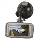 "GS8000L 2.7"" TFT 5.0MP 1080P Car DVR Camcorder w/ 4 x LED IR-Night Vision - Black"