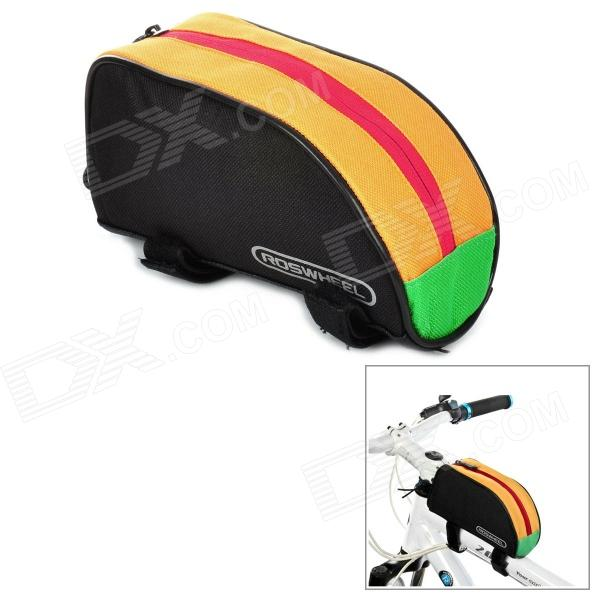 ROSWHEEL Outdoor Portable Bicycle Bag - Black + Yellow + Green